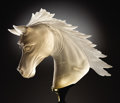 Lapidary Art:Carvings, FINELY CARVED SMOKY QUARTZ HORSE HEAD. ...