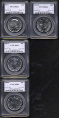 Kennedy Half Dollars: , 1974 50C MS63 PCGS, sharply struck and lightly toned, ... (4 Coins)