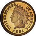 Proof Indian Cents, 1884 1C PR67 ★ Red NGC....
