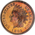 Proof Indian Cents, 1885 1C PR68 Red and Brown NGC....