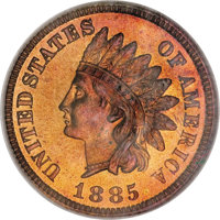1885 1C PR68 Red and Brown NGC....(PCGS# 2343)