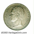 Belgium: , Belgium: Leopold I 2-1/2 francs 1849 Small Head, Small headleft/Crowned arms, Dup-415, KM11, lustrous XF.. From theMarshall Frume...