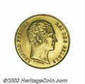 Belgium: , Belgium: Leopold I gold 25 francs 1848, L. Wiener with period, Bustright/Crowned and Mantled arms, Dup-373, Fr-4, KM13.1, Brilliant...
