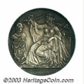 Belgium: , Belgium: 25th Anniversary of Independence Silver Medallic 2 francs1856, French legend, Dup-576, KM-M6.1, toned Uncirculated..From...
