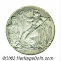 Belgium: , Belgium: 25th Anniversary of Independence Silver Medallic 2 francs1856, Dutch legend, Coin Alignment Dup-579, KM-M7.1, ChoiceAU/Unc...