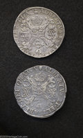 Belgium: , Belgium: Pair Of One Patagons First: 1617 Antwerp Mint GH311-1b,Delmonte-254, Davenport 4432; Second: No Date Brussels Mint...(Total: 2 coins Item)