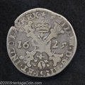 Belgium: , Belgium: 1/2 Patagon 1629 Maastricht Mint, GH330-2, Delmonte-302 (R1) Fine, Tiny flan crack as is normal with these crude issues. ...