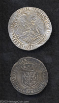 Belgium: , Belgium: Charles V (1506-1555) Pair of Early Silver Coins: FourStuivers 1539 GH 189-5a and One Real No Date GH 190-5b. Both BrugesM... (Total: 2 coins Item)