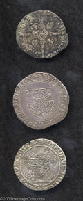Belgium: , Belgium: Charles the Bold or Stout (1467-1477) Lot of Three SilverCoins: One Gros No Date GH 25-3; One Double Gros GH 24-1; OneBriq... (Total: 3 coins Item)