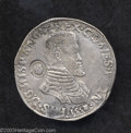 Belgium: , Belgium: One Philipsdaalder 1558 Bruges Mint With Shield of HollandCounterstamp within a pearl border. Bust right GH210-7c,Delmonte...