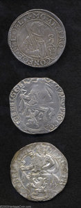 Belgium: , Belgium: Lot of Three Crown Sized Coins: Dutch Rijksdaalder 1610Delmonte-938, Davenport-4828, KM16 and Two Lion Daalders 1641 and1... (Total: 3 coins Item)