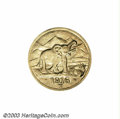 German East Africa: , German East Africa: Wilhelm II gold 15 Rupien 1916-T, KM16.2,choice AU-UNC, fully lustrous, just a hint of wear on the elephant.One of the nic...