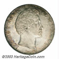German States:Bavaria, German States: Bavaria. Ludwig I 2 taler 1838 Commemorating theReapportionment of Bavaria, Bust right/Eight wreaths, Dav-582,KM418, lustr...