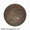 German States:Bavaria, German States: Bavaria. Ludwig I Copper Pattern Commemorative taler1834, Bust right/Monument at Oberwittelsbach, type of Dav-572, typeof ...
