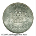 German States:Hamburg, German States: Hamburg. 5 Mark 1913J, KM293, MS65 NGC, a premium coin with full white luster....