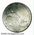 German States:Nurnberg, German States: Nurnberg. Taler 1761, Seated figure with shield and branch/Crowned eagle, Dav-2487, KM335, AU details with some evidence of ...