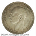 German States:Oldenburg, German States: Oldenburg. Friedrich August 5 Mark 1901A, KM203, Proof 64 NGC, a superb coin with light gray patina and glittering golden hi...