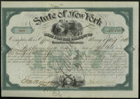 Albany, NY- Debt for the Payment of Bounties to Volunteers $100,000 Bond July 1, 1866 Over the years, we have seen a han...