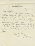 Music Memorabilia:Autographs and Signed Items, Aaron Copland Signed Letter. A single-page handwritten letter onBoston Symphony Orchestra letterhead, dated August 14, 1948...