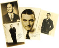 "Movie/TV Memorabilia:Autographs and Signed Items, Classic Actors Signed Photos, Set of Four. Includes signed b&w8"" x 10"" photos of Joe E. Brown, Maurice Chevalier, and Charl...(Total: 1 Item)"
