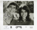 "Music Memorabilia:Autographs and Signed Items, The Carpenters Signed Photo. A b&w 8"" x 10"" promo photo of thebrother-sister duo inscribed and signed by both Karen and Ric..."