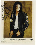"Music Memorabilia:Autographs and Signed Items, Michael Jackson Signed Photo. A color 8"" x 10"" photo of the King ofPop circa 1991, signed by him in black marker. In Excell... (Total:1 Item)"