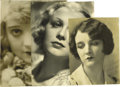 "Movie/TV Memorabilia:Autographs and Signed Items, Silent-Era Starlets Signed Photos. Set of three inscribed andsigned vintage b&w photos includes a 6.5"" x 8.5"" shot of Mary..."