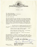 Music Memorabilia:Autographs and Signed Items, Louis Armstrong Signed Contract. A two-page contract on MGMletterhead dated December 9, 1955, engaging Armstrong's exclusiv...