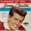 "Music Memorabilia:Recordings, Jimmy Clanton ""Thinking Of You"" Sealed EP (Ace 102, 1959). Clanton's two biggest hits, ""Just A Dream"" and ""Go, Jimmy, Go"" ar... (Total: 2 Items)"