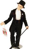 "Movie/TV Memorabilia:Memorabilia, Fred Astaire and Ginger Rogers Limited Edition Dolls. A tuxedo-cladlimited edition 19"" poseable Fred Astaire doll by World ..."