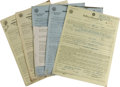 Music Memorabilia:Autographs and Signed Items, Assorted Jazz Greats Agent-Signed Contracts. Set of agent-signedcontracts includes two for Cannonball Adderley, dated March...