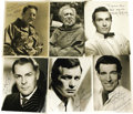 """Movie/TV Memorabilia:Autographs and Signed Items, Various Leading Men Signed Photos, Set of 6. Includes b&w 8"""" x 10"""" inscribed and signed photos of Michael Rennie, David Jans..."""