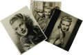 Movie/TV Memorabilia:Autographs and Signed Items, Three Ginger Rogers Signed Photos. Three gorgeous b&w portraitsfrom 1934, 1937, and 1938, all signed by Rogers, with photog...