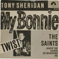 """Music Memorabilia:Recordings, Tony Sheridan and the Beat Brothers """"My Bonnie""""/ """"The Saints"""" 45 w/Picture Sleeve (Germany Polydor 24 673, 1962). Here's the..."""