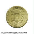 German States:Saxony, German States: Saxony. Sophia gold ducat 1616, Crowned initials over crossed swords/IHS, Fr-2642, KM126, MS62 NGC. Full luster with light h...