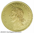 Great Britain: , Great Britain: Cromwell gold 50 Shillings 1656. S-3224. WR-38,rated R.4: 11-20 known. Dies by Thomas Simon. One of the greatrarities in t...