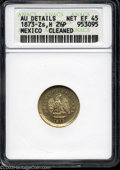Mexico: , Mexico: Republic. Gold 2 1/2 Pesos 1873-Zs-H, KM411.6, Net XF 45,AU details - cleaned, ANACS. ...