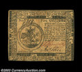 Colonial Notes:Continental Congress Issues, Continental Currency May 10, 1775 $5 Extremely Fine-About ...