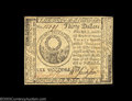 Colonial Notes:Continental Congress Issues, Continental Currency May 10, 1775 $30 Choice New. Crisp ...