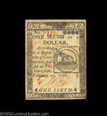 Colonial Notes:Continental Congress Issues, Continental Currency February 17, 1776 $1/6 New. Broadly ...