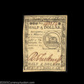 Colonial Notes:Continental Congress Issues, Continental Currency February 17, 1776 $1/2 Superb Gem New.