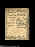 Colonial Notes:Continental Congress Issues, Continental Currency February 17, 1776 $1/2 New. Fully ...