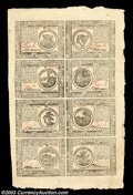 Colonial Notes:Continental Congress Issues, Continental Currency May 9, 1776 Half Sheet of Eight Gem New....