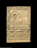 Colonial Notes:Continental Congress Issues, Continental Currency May 9, 1776. Five nice notes. $2 ... (5 notes)