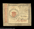 Colonial Notes:Continental Congress Issues, Continental Currency January 14, 1779 $1 Extremely Fine. ...