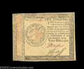 Colonial Notes:Continental Congress Issues, Continental Currency January 14, 1779 $2 Extremely Fine. A ...