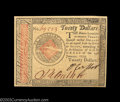 Colonial Notes:Continental Congress Issues, Continental Currency January 14 1779 $20 Choice New. ...