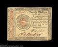 Colonial Notes:Continental Congress Issues, Continental Currency January 14, 1779 $20 Very Fine. Two ...