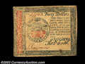 Colonial Notes:Continental Congress Issues, Continental Currency January 14, 1779 $40 About New. Well ...