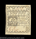 Colonial Notes:Connecticut, Connecticut October 11, 1777 7d Choice About New. This ...